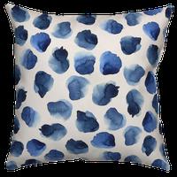 Blue Watercolor Dots 20x20 Throw Pillow