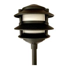 3 Tier Pagoda, Low Voltage Landscape Light, Black, Halogen