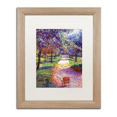 "Glover 'French Apple Orchards' Art, Birch Frame, 16""x20"", White Matte"
