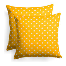 "Reversible Square Throw Pillow 18""x18"", Set of 2, Dottie Pineapple"