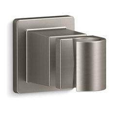 Kohler Awaken Adjustable Wall Holder, Vibrant Brushed Nickel