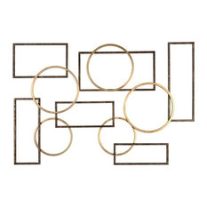 "Uttermost Elias Wall Art, Bronze and Gold, 40.38""x60.25"""