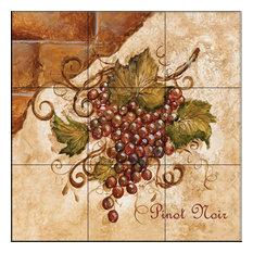 Tile Mural, Tuscan Grapes Ii by Tre Sorelle Studios