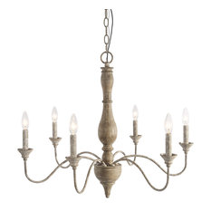 LNC 6-Light Antique Chandelier Lighting Rustic Pendant Antique Chandelier
