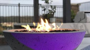 "Carlsbad, California   2- 27"" Classic Fire Bowls"