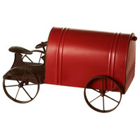CBK Metal Red Tractor Mail Box 153372