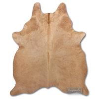 Free-form Cowhide Rug, Salmon, 6x7'