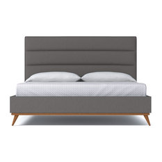 Apt2B - Cooper Upholstered Bed, Chromium, Eastern King - Panel Beds