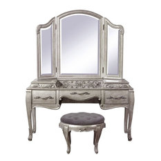 Pulaski Furniture Rhianna Vanity, Mirror and Stool, 3-Piece Set
