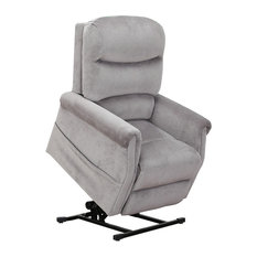 Classic Plush Power Lift Recliner Living Room Chair, Gray