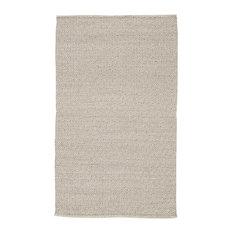 Sean Modern Grey Wool Geometric Pattern Rug - 2' x 3'