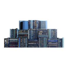 Decorative Books, Modern Denim Book Wall, Set of 100