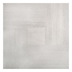 """Parquet Ash 20""""x20"""" Porcelain Large Format Floor Tile, Set of 7"""