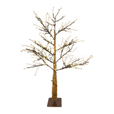 LED 4.5' Brown Tree With Warm White Lights