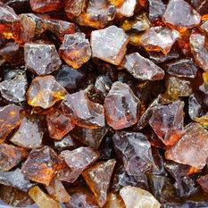 """FireGlass, Amber Recycled Glass, Medium, 1/2""""-3/4"""""""