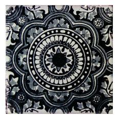 "4""x4"" Mexican Ceramic Handmade Tile #C126"