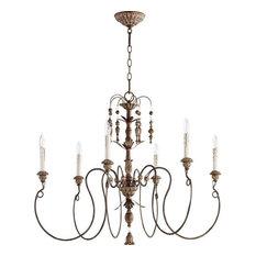 Most popular copper chandeliers for 2018 houzz quorum international quorum lighting 6006 6 39 salento chandelier vintage copper aloadofball Gallery