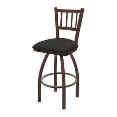 810 Contessa 25-inch Swivel Counter Stool With Bronze And Canter Iron Seat