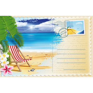 Beach Chair Gallery Door Mat, Small