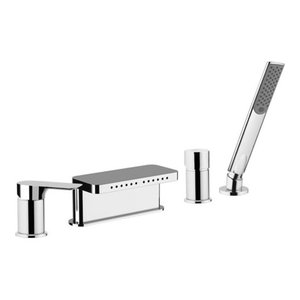 Infinity Chrome Plated Bath Deck Mixer Tap With Diverter