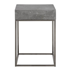 Uttermost 24735 Jude 14-inchW Steel And Concrete End Table - Concrete
