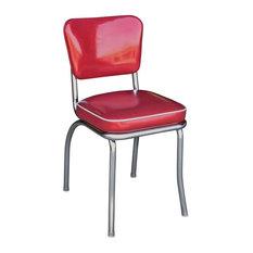 Richardson Seating   Glitter Sparkle Red Retro Chrome Kitchen Chair,  Glitter Sparkle Red   Dining