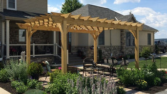 Wooden Pergola in Front Yard