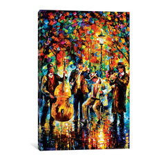 """Glowing Music Gallery"" by Leonid Afremov, 60x40x1.5"""