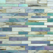 "10.5""x10.75"" Matchstix Kismet Glass Tile, Single Sheet"