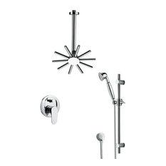 Nameeks SFR7541 Remer Single Handle Shower System Faucet, Chrome