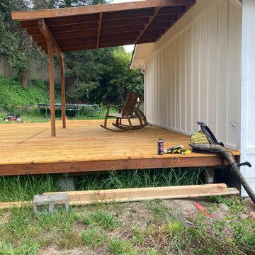 Rebuilding deck and railing