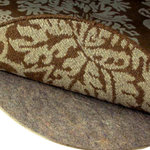 """Rug Pad Corner - Superior 3/8"""" Thick Round Felt Rug Pad, 5x5 - Guaranteed 100% Natural containing only recycled pre-consumer fibers"""