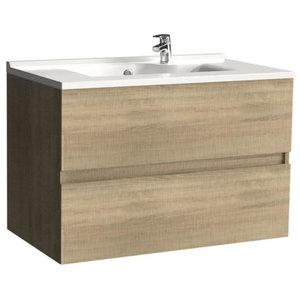 Rosaly Bathroom Vanity Unit, 80 cm, Oak Without Legs