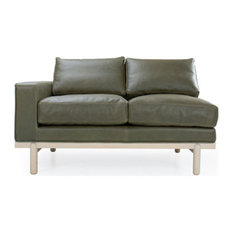 Cantor Left Arm Leather Sofa, Finish: Fawn, Leather: Marcona