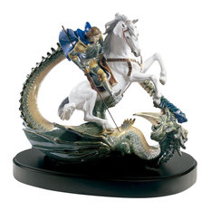 Lladro Saint George And The Dragon Figurine