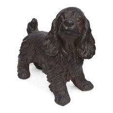 Messiah Outdoor Cocker Spaniel Dog Garden Statue