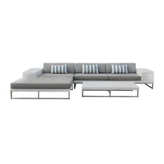 Outdoor Wicker Sofa Sectional 5-Piece Resin Couch Set