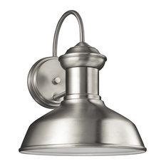 Sea Gull Lighting Small 1-Light Outdoor Lantern, Satin Aluminum