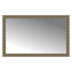 """56""""x35"""" Custom Framed Mirror, Distressed Silver"""