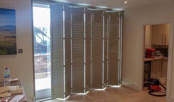 Soot Grey Patio Door, Tier on Tier & Full Height Shutters in Knutsford
