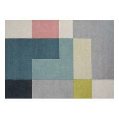 Linie Tetris Rug, Lime, 170x240 cm