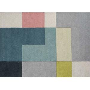 Linie Tetris Rug, Lime, 140x200 cm