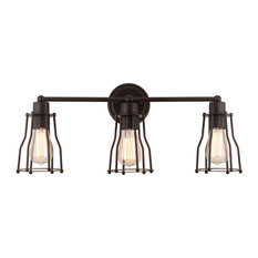 Evelyn Metal Vanity Light, Oil Rubbed Bronze, 24""