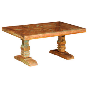 VidaXL Reclaimed Solid Wood Antique Style Coffee Table