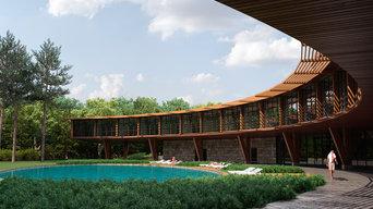 Досуговый центр с бассейном, рестораном, гостиницей