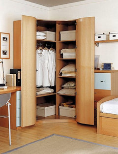 Clothes storage for tiny bedroom - Armario en l ...