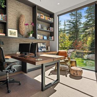 Источник вдохновения для домашнего уюта: кабинет в стиле модернизм