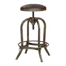 gdfstudio dempsey bar stool brown leather bar stools and counter stools