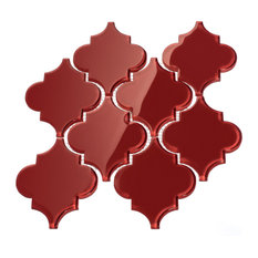 """12""""x13"""" Arabesque Collection, Set of 11, Ruby Red"""