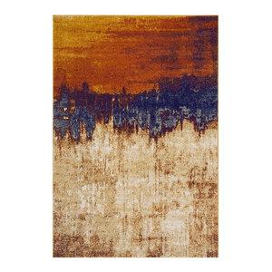 Nova Rectangular Rug, Orange and Brown, 120x170 cm